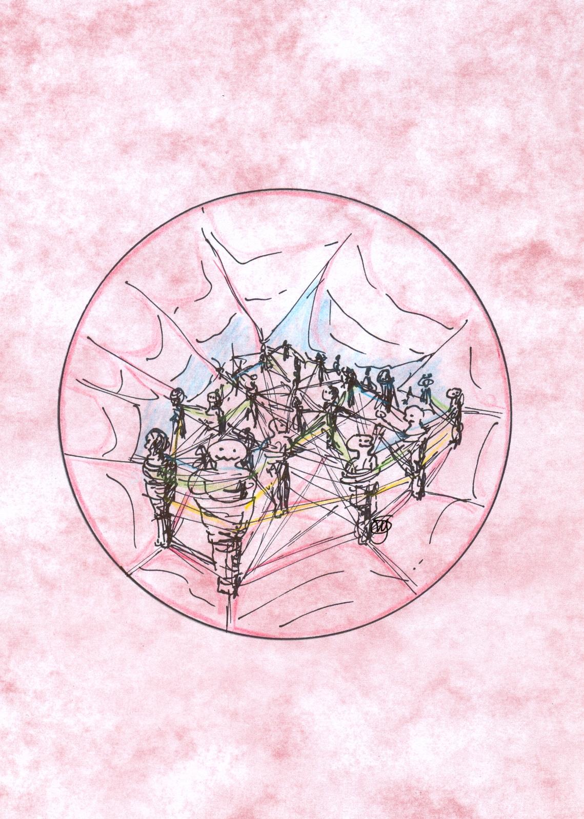 Leven in webben van wederzijdse afhankelijkheid,  ©Monique Spangenberg